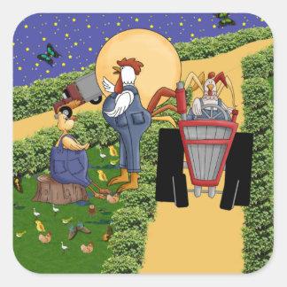 Farm Talk Square Stickers