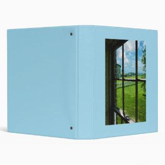 Farm Through Window Vinyl Binder