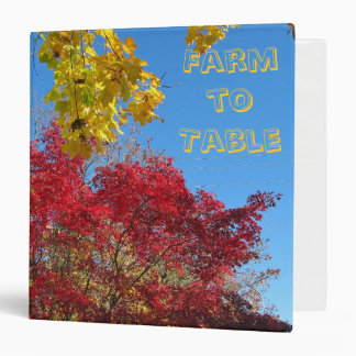 Farm to Table Recipe Binder