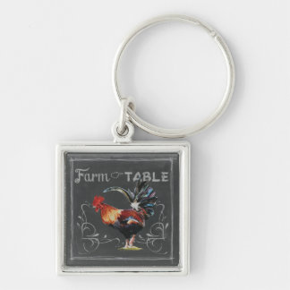 Farm to Table Rooster Keychain
