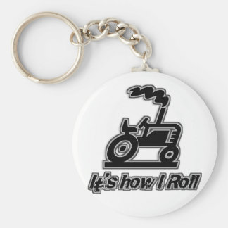 Farm Tractor How I Roll Basic Round Button Keychain