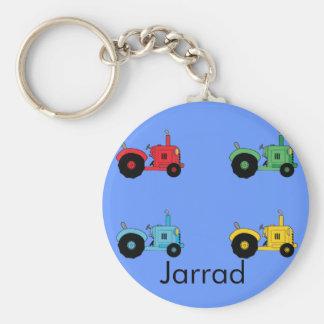 Farm Tractors Basic Round Button Keychain