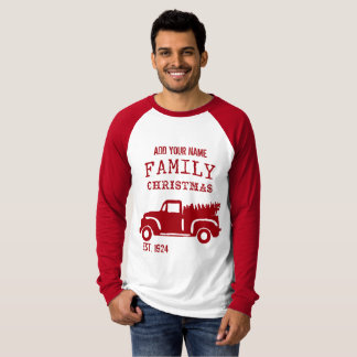 Farm Truck Family Christmas Personalize It! T-Shirt