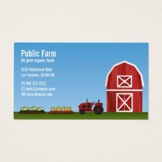 Farm Vegetable Farmer Business Card