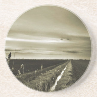 Farm Water Canal Beverage Coaster