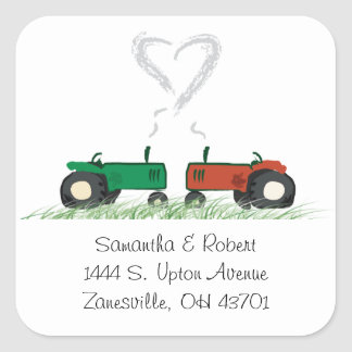 Farm Wedding Envelope Seal Square Sticker