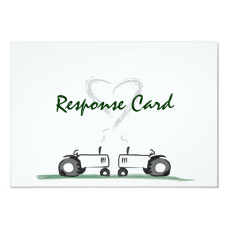 "Farm Wedding RSVP Card: Classic Style 3.5"" X 5"" Invitation Card"