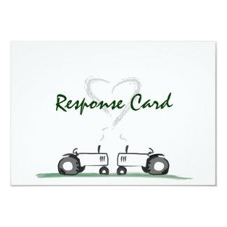 Farm Wedding RSVP Card: Classic Style Custom Invitations