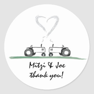 Farm Wedding Thank-You Sticker
