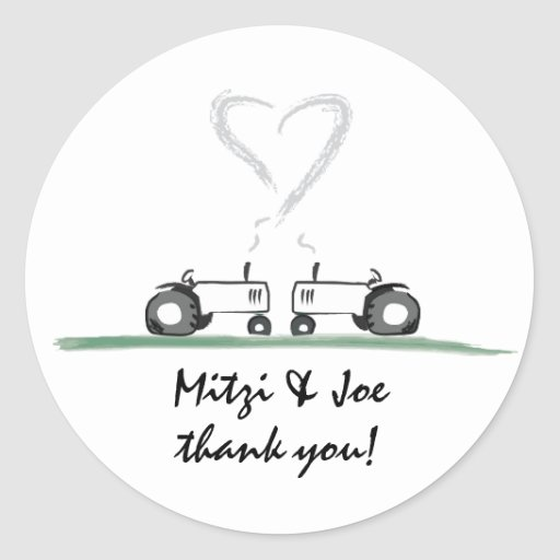 Farm Wedding Thank-You Sticker