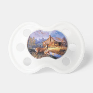 Farm with deer Baby Pacifier