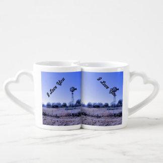 Farm with Windmill Coffee Mug Set
