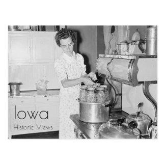 Farm Woman Cooking Postcard
