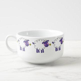 farm woolly sheep soup mug