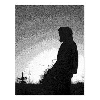 Farmer at Sunset Postcard
