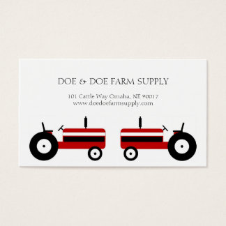 Farmer Farm Supply Agriculture Red Tractor Business Card
