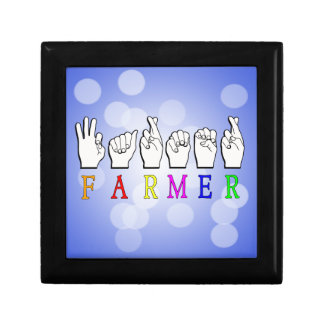 FARMER FINGERSPELLED ASL NAME SIGN GIFT BOX