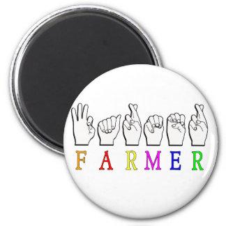 FARMER FINGERSPELLED ASL NAME SIGN MAGNET