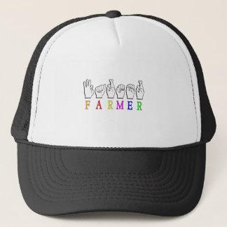 FARMER FINGERSPELLED ASL NAME SIGN TRUCKER HAT