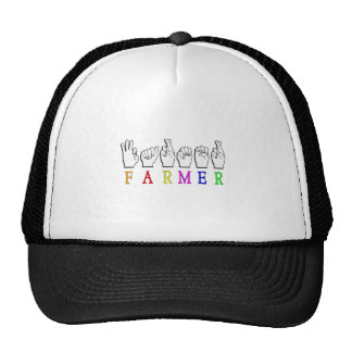 FARMER FINGERSPELLED ASL NAME SIGN TRUCKER HAT
