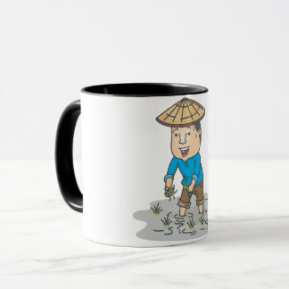 Farmer In A Rice Field Mug