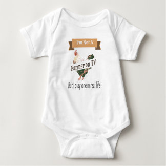 Farmer in Real Life Funny Baby Bodysuit