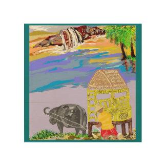Farmer & NipaHut Wood Canvas