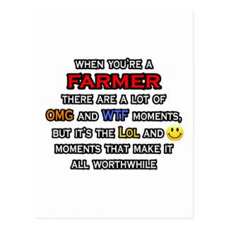Farmer ... OMG WTF LOL Postcard