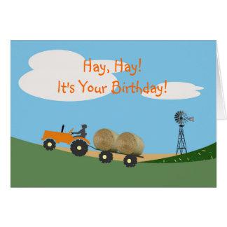 Farmer on Tractor Birthday Card
