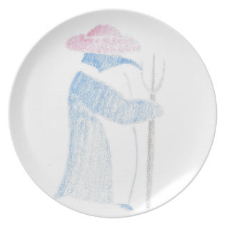 Farmer Penguin Plate