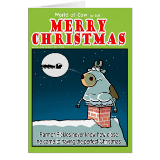 Farmer Pickles Missed Christmas Present. Greeting Card