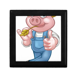Farmer Pig Cartoon Character Gift Box