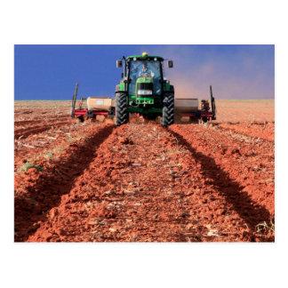 Farmer Planting Maize Using Tractor, Vaalkop Postcard