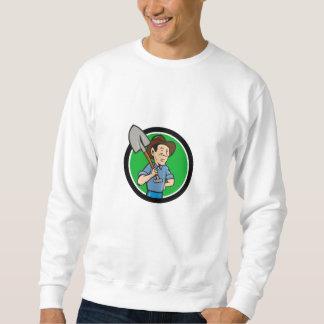 Farmer Shovel Shoulder Circle Cartoon Sweatshirt