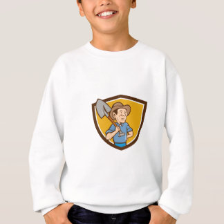 Farmer Shovel Shoulder Crest Cartoon Sweatshirt