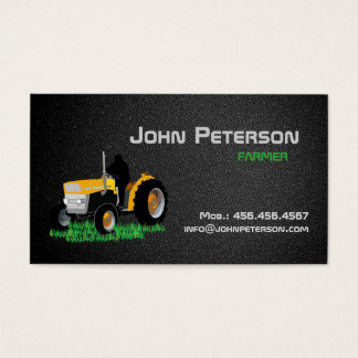 Farmer Village Farming Agriculture Tractor Business Card
