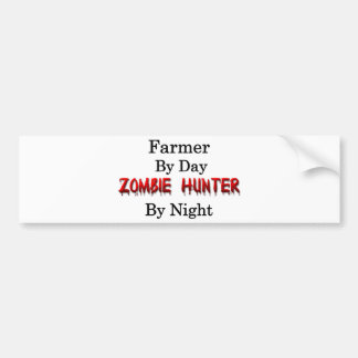 Farmer/Zombie Hunter Bumper Sticker
