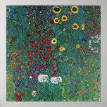 Farmergarden w Sunflower by Klimt, Vintage Flowers Posters