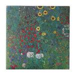 Farmergarden w Sunflower by Klimt, Vintage Flowers Tiles