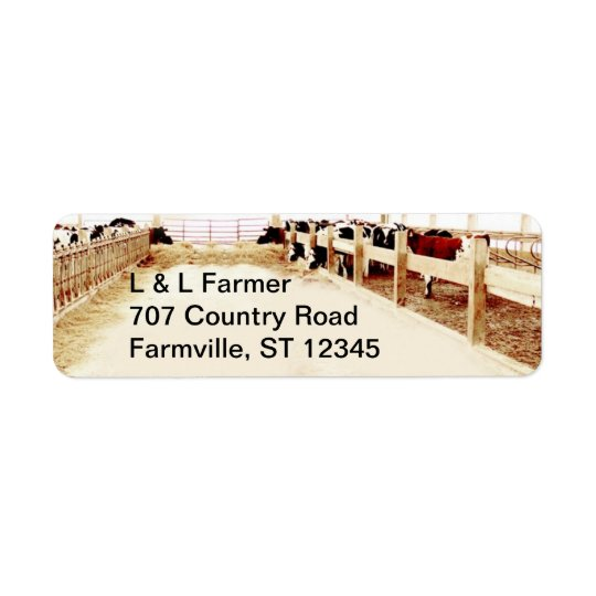 Farmer's Address Label