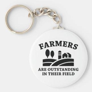 Farmers Basic Round Button Keychain