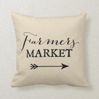 Farmer's Market Arrow Decorative Throw Pillow