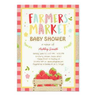Farmers Market Baby shower Invite Strawberry Farm