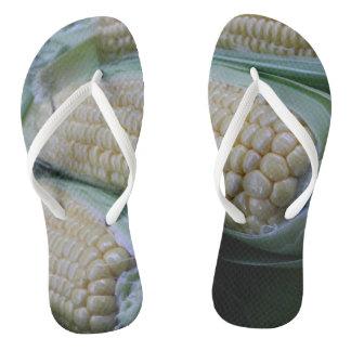Farmers Market Corn Flip Flops