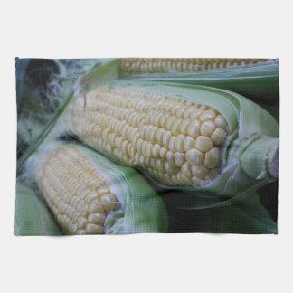 Farmers Market Corn Kitchen Towel