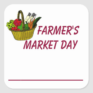 Farmer's Market Day Planning Sticker