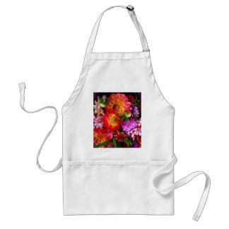 Farmers market flowers standard apron