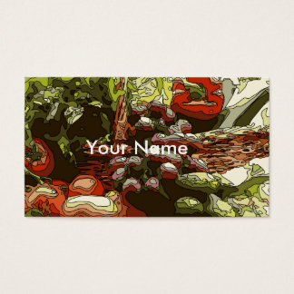 Farmers Market Fresh Fruits and Vegetables Business Card