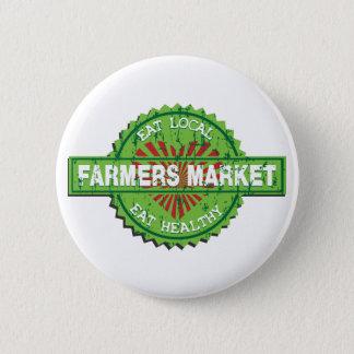Farmers Market Heart 2 Inch Round Button