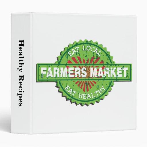 Farmers Market Heart 3 Ring Binder